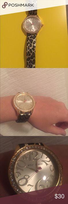 Betsey Johnson watch Fun Animal print Betsey Johnson watch! New battery needed Betsey Johnson Jewelry