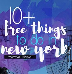 There are lots of things to see & do in New York that are free (you know, other than running all the miles)! So here are 10+ free things to do in New York!
