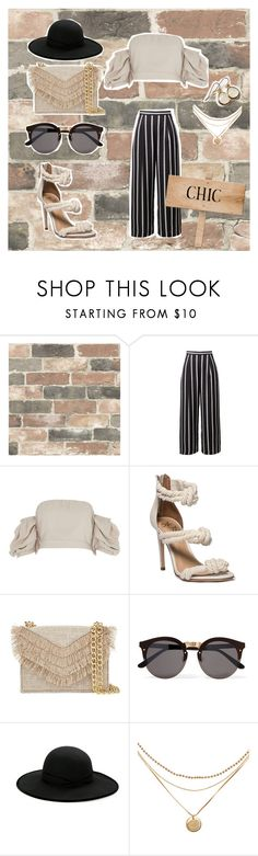 """CHIC CONFIDENCE"" by oh-she on Polyvore featuring Wall Pops!, River Island, Cynthia Rowley, Illesteva, Betmar and Honour"