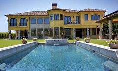 Starter: The home had an intricate exterior and beautiful pool that was kept only as a structure for Kim and Kanye