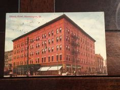 Illinois Hotel Bloomington Antique Postcard Majestic 1909 Postmark Divided Back