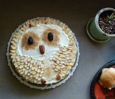 Rustic Owl Birthday Carrot Cake with Buttermilk Cream Cheese Frosting, robot.jumping.rope on flickr (Estea B)