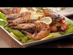 الروبيان المشوي في الفرن - ملح وفلفل - فتافيت - YouTube Grilled Shrimp, Arabic Food, Seafood, Cabbage, Grilling, Turkey, Yummy Food, Make It Yourself, Meat