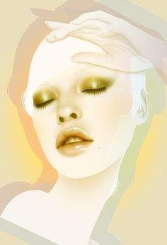 """Psychodermatology"" - Autumn Whitehurst; Brooklyn, NY {beautiful female portrait illustration}"