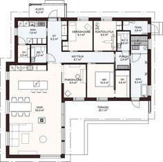 Asuntomessut2019 - Dekotalo   Talopaketit ja valmistalot avaimet käteen! Small House Plans, Future House, Floor Plans, Layout, Exterior, Flooring, How To Plan, Architecture, Building