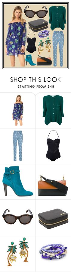 """""""Untitled #3458"""" by cate-jennifer ❤ liked on Polyvore featuring Twin-Set, Marc Jacobs, Versace, Michel Vivien, Marni, RetroSuperFuture, Flight 001, Elizabeth Cole and Lacey Ryan"""