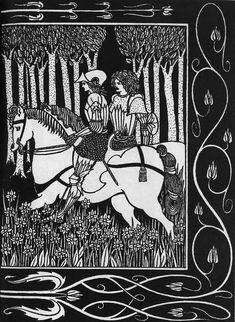 How King Mark and Sir Dinadan Heard Sir Palomides II - Aubrey Beardsley