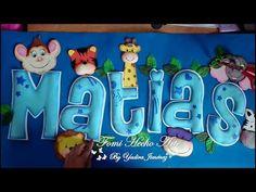 NOMBRE SAFARI PARA BABY SHOWER/ NOMBRES EN FOAMI/ FOMI HECHO ARTE. - YouTube Clipart Baby, Marcos Para Baby Shower, Topper, Ideas Para Fiestas, Projects For Kids, Smurfs, Clip Art, Videos, Creative