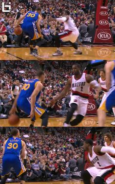 Steph Curry crosses Wes