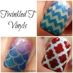 Twinkled T Vinyls Nail Art
