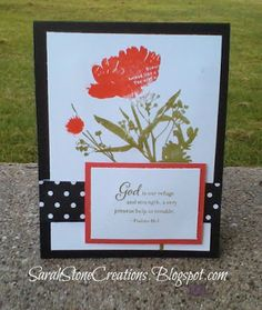 Sarah Stone Creations: September Stamp of the Month Blog Hop - Paper Garden #CTMHLaVieEnRose #B1428LookToTheLight #MakeItFromYourHeartVol1