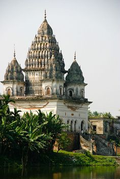 Shiva Temple, Puthia, Bangladesh. Puthia Temple Complex consists of a cluster of notable old Hindu temples located 23 km to the east of Rajshahi city, it has the largest number of historic temples in Bangladesh.