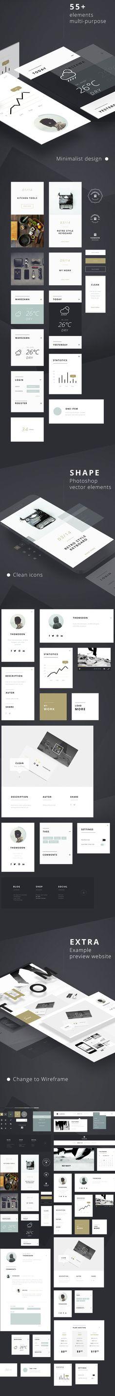 Je continue à partager avec vous différentes ressources qui vont pouvoir vous aider dans toute la partie création, webdesign. Il s'agit d'un UI kit proposé par le graphiste polonais Tomasz Mazurczak. Vous trouverez dans ce kit tout un tas de choses que vous pouvez utiliser pour un usage personne…