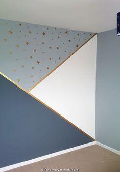 Progress in kindergarten, # progress - Baby Room DIY - Babyzimmer Baby Bedroom, Baby Boy Rooms, Baby Room Decor, Nursery Room, Bedroom Wall, Bedroom Decor, Star Bedroom, Kids Room Design, Wall Design