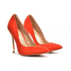Pantofi dama rosii stiletto toc 11 cm Sedone  ►Material exterior: piele ecointoarsa.  ►Material interior: inlocuitor piele.  Talpafoarte comoda, cu toc metalic de 11cm.Cumpara Acum! Stoc limitat!
