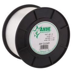 Ande Premium Monofilament Line - 1 lb. Spool - 100 lb. - Clear
