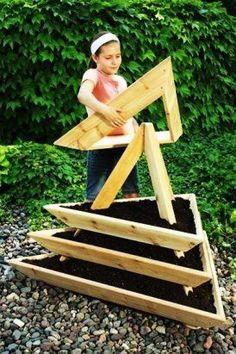 ## Triangular Planter Pot. ## Easy But Awesome Design Piece Of Garden Decor!