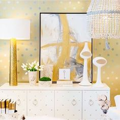@bungalow5 and @elawrenceltd featured in this glam #PortmanWhite vignette. @restylesource @americasmartatl #jd2015whiteout