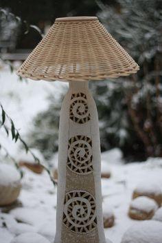 Lampa sněžná něžná / Zboží prodejce zu straková | Fler.cz Ceramic Light, Ceramic Bowls, Ceramic Art, Cool Lamps, Pottery Ideas, Lamp Bases, Petra, Tea Lights, Lanterns