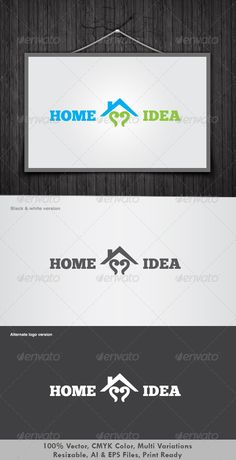 Home Idea Logo by dotnpix Its Good Looking Simple logo Template. Its used Any kinds of Company to related this idea. Featured: AI CS3 Document EPS CS