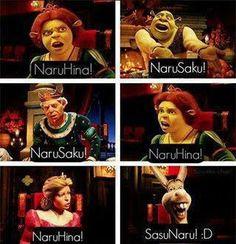 Naruhina, narusaku or ... SASUNARU. XD! Oww donkey I have to go with Donkey
