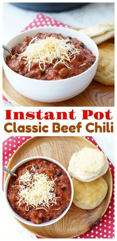 Instant Pot Classic Beef Chili, this is our favorite Instant Pot recipe and is the best comfort food!