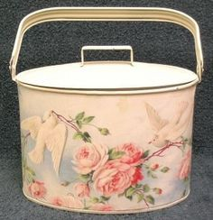 Doves and Roses Lunch Pail Purse Make Up Tote....oh yes plz!!!!