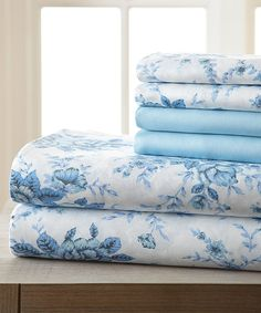Take a look at this Blue Sky Floral Hotel 5th Six-Piece Sheet Set today!