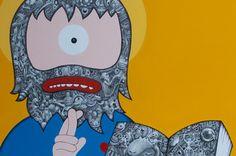 Hackatao Solo Show! Bart Simpson, Fictional Characters, Art, Fantasy Characters