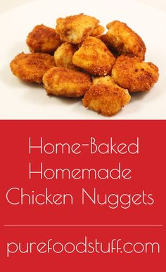 Invented in the 50's by Robert C. Baker, today the chicken nugget is enjoyed throughout America. McDonalds introduced their chicken McNuggets in the beginning of the 80's, but lately everyone is concerned about the stuff they're made of. Kids love these fatty foods and so do adults. Whether you order them in or fry them frozen from a package, they are a fast way to a full belly.
