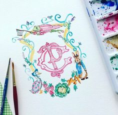 "64 Likes, 2 Comments - Jennifer Ashley (@jenniferashleydesign) on Instagram: ""#TBT one of my all time favorite custom crests! Heard there is a Peter Rabbit movie coming out in…"""