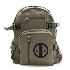 Deadpool Logo Army Sport Heavyweight Canvas Backpack Bag -- Check out this great image  : Backpacking bags