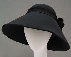 Hat, Yohji Yamamoto, ca. 1998, Japanese, wool, cotton and silk