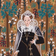 Mary, Queen of Scots, Anna Bond History Of Illustration, Anna Bond, The Bonnie, Mary Queen Of Scots, Rifle Paper Co, Illustrations And Posters, Beautiful Paintings, Watercolor Illustration, Paper Art