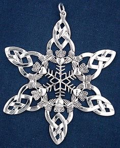 Claddagh snowflake ornament. There's another with a hanging emerald pendant in the middle... love both of them!
