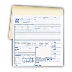 Towing invoice Booked | Towing Invoice | Pinterest | Printing