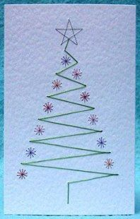 Embroidery christmas cards free pattern 51 Best ideas #embroidery