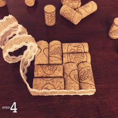 Country DIY:Wine Cork Coasters | Mason & Belle Blog