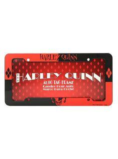DC Comics Harley Quinn License Plate Frame,