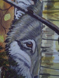 Aceo Art Print of Original Acrylic Painting by BlackFridayStudios, $7.00