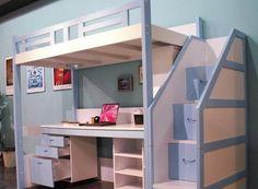 Znalezione obrazy dla zapytania piętrowe łózka z biurkiem