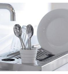 DON HIERRO Egouttoir à vaisselle en acier et porcelaine Aqua