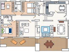 planos casas bien distribuidas