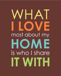 What I Love Most About My Home Is Who I Share It With - Family Quote