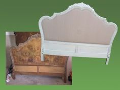 Reforma cabecero antiguo Más Girls Headboard, Headboard Makeover, Painted Headboard, Headboards, Furniture Board, Building Furniture, Furniture Sale, Furniture Projects, Refurbished Furniture
