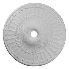 "Ekena Millwork CM36GL 36.625"" Wide Galveston Ceiling Medallion White Accessory Ceiling Medallions Ceiling Medallions"