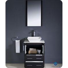 Photos On Fresca Torino inch Espresso Modern Bathroom Vanity with Vessel Sink by Fresca