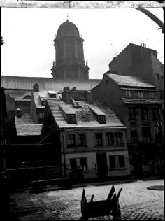 """""""Grosse Juedenhof"""" mit Blick auf das alte Stadthaus 1934"""
