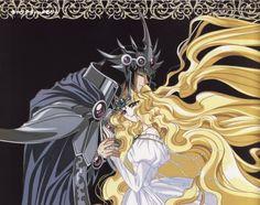Magic Knight Rayearth: Emeraude and Zagato 2 Manhwa Manga, Manga Anime, Anime Art, Magic Knight Rayearth, Anime Love Couple, Manga Love, Manga Comics, Magical Girl, Anime Couples