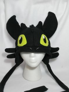 Toothless How to Train Your Dragon Fleece Hat -MADE TO ORDER-. $30.00, via Etsy.